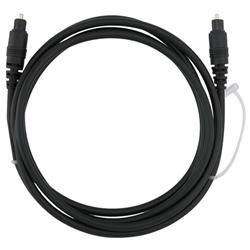 INSTEN 6-foot Black Digital Optical Audio TosLink Cable Male to Male - Thumbnail 1