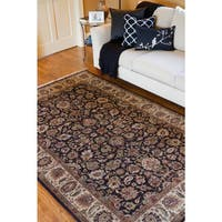 Hand-knotted Treasures Brown Wool Area Rug - 8'6 x 11'6