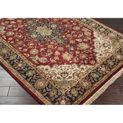 Hand-knotted Finial Burgundy Burgundy Wool Rug (5'6 x 8'6) - Thumbnail 1