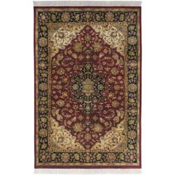 Hand-knotted Finial Burgundy Burgundy Wool Rug (7'9 x 9'9)