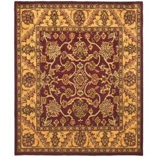 Safavieh Handmade Golden Jaipur Burgundy/ Gold Wool Rug (12' x 18')