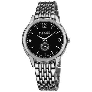 August Steiner Men's Swiss Quartz Silver-Tone Watch