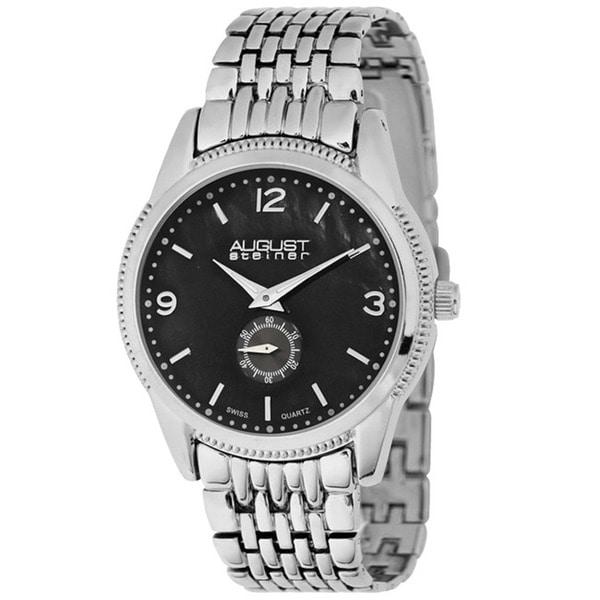 August Steiner Women's Swiss Quartz Silver-Tone Watch