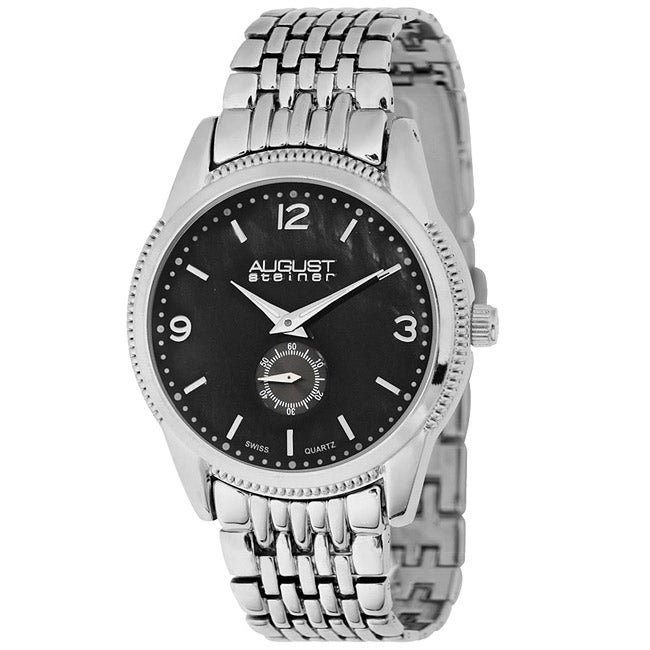 August Steiner Women's Swiss Quartz Silver-Tone Watch