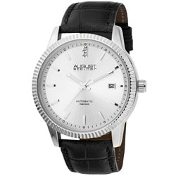 August Steiner Men's 'Diamond' Silver-Dial Automatic Watch