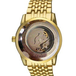 August Steiner Men's Automatic Mother of Pearl Gold-Tone Bracelet Watch - Thumbnail 1