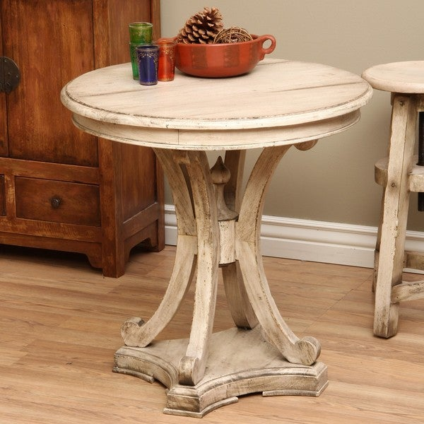 Wooden Street Round Table (Indonesia)