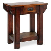 Handmade Black Smith Solid Wood Small Table (Indonesia)