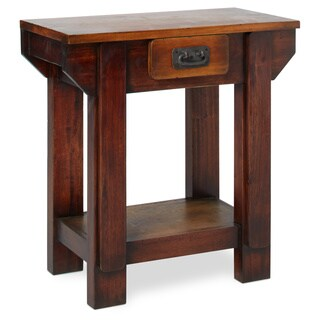 Handmade Black Smith Wooden End Table (Indonesia)