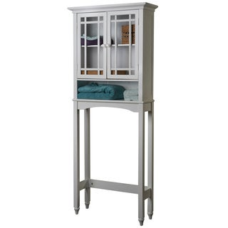 Stripe White Space Saver Cabinet by Elegant Home Fashions