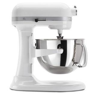 KitchenAid RKP26M1XWH White 6-quart Pro 600 Bowl-Lift Stand Mixer (Refurbished)