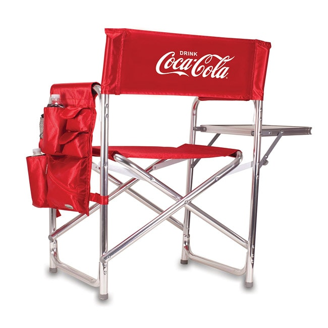 Picnic Time Red Coca-Cola Aluminum Chair w/ Table