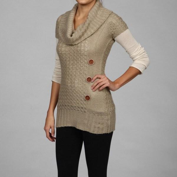 Razzle Dazzle Women's Cowl Neck Tunic Sweater