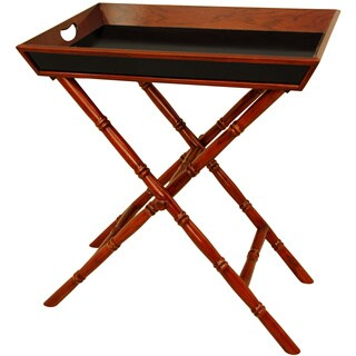 Handmade Rosewood Trestle Stand Tea Tray (China)