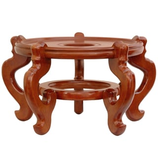 Handmade Rosewood 11-inch Honey Fishbowl Stand (China)