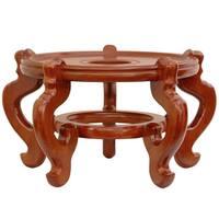 Handmade Rosewood 11-inch Honey Fishbowl Stand (China)