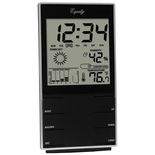 Equity by La Crosse 30220 Desktop Temperature Station/ Time Alarm
