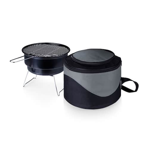 Caliente Cooler Tote w/ 10-inch Charcoal Grill