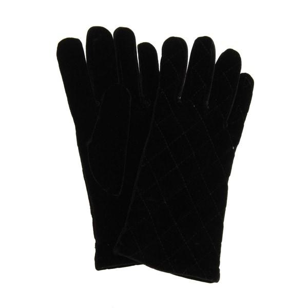 647667fcc Shop Cejon Women's Quilted Velvet Gloves - Free Shipping On Orders ...