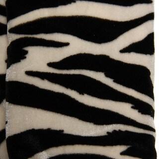 Cejon Women's Zebra Print Velvet Gloves