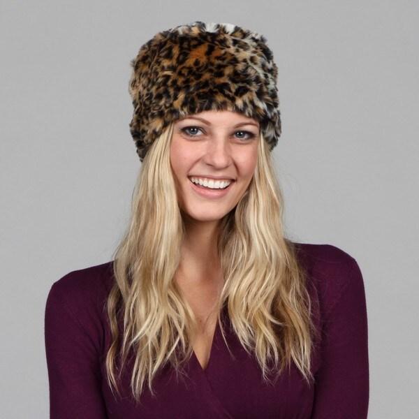 Cejon Faux Leopard Skin Russian Hat