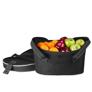 Insulated Mercado Black Double-lid Cooler Basket