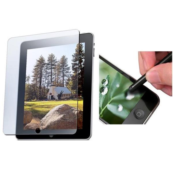 INSTEN 3-piece Black Stylus Pen/ Anti-glare Screen Protector for Apple iPad