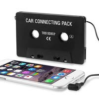 INSTEN Black Universal Car Audio Cassette Adapter (Pack of 2)