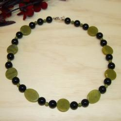 Susen Foster Silverplated Onyx/ Jade 'Key Lime' Necklace