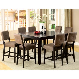 Furniture of America Catherine Espresso Counter-height Dining Set