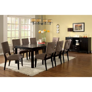 Furniture of America Catherine Espresso 7-pc Dining Set with Removable Leaf