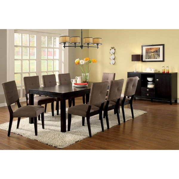 Shop Furniture Of America Catherine Espresso 7 Pc Dining