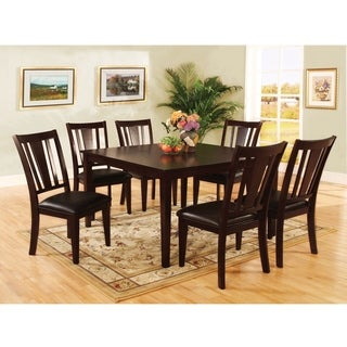 Bension Espresso 7-piece Dining Set