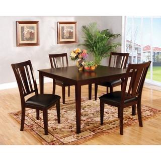 Furniture of America Vays Modern Brown Solid Wood 5-piece Dining Set