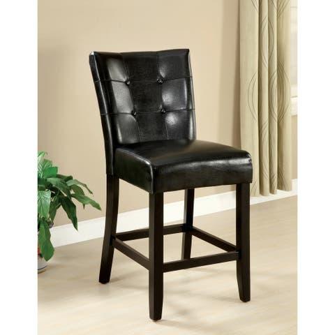 Furniture of America Lisle Dark Espresso 26-inch Counter-height Stool (Set of 2)