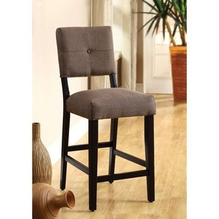 Furniture of America Yall Casual Brown Fabric Counter Stools Set of 2