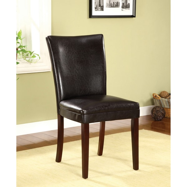 """Furniture of America Porta Modern Leatherette Dining Chairs (Set of 2) - 19""""W x 25""""D x 39""""H"""