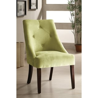Furniture of America Apple Green Aura Leisure Microfiber Dining Chair