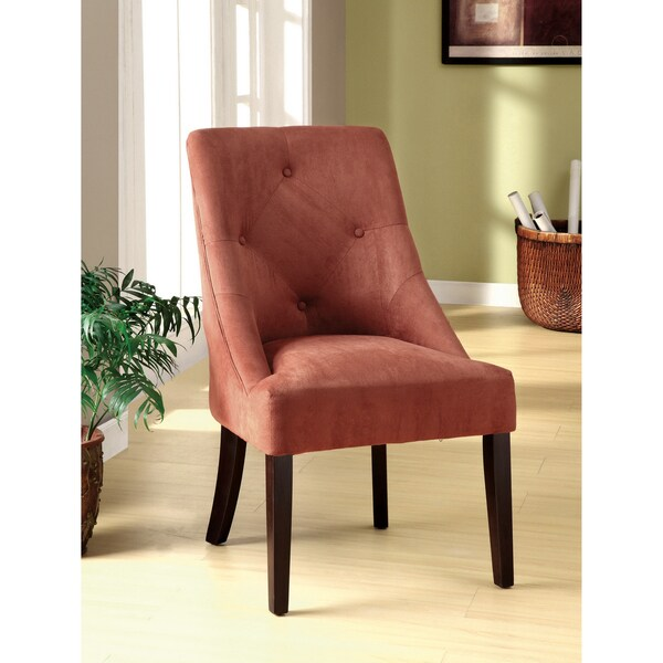 Furniture of America Blush Red Aura Leisure Microfiber Dining Chair