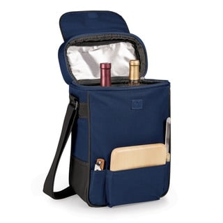 Duet Navy Insulated 2-bottle Wine/ Cheese Cooler