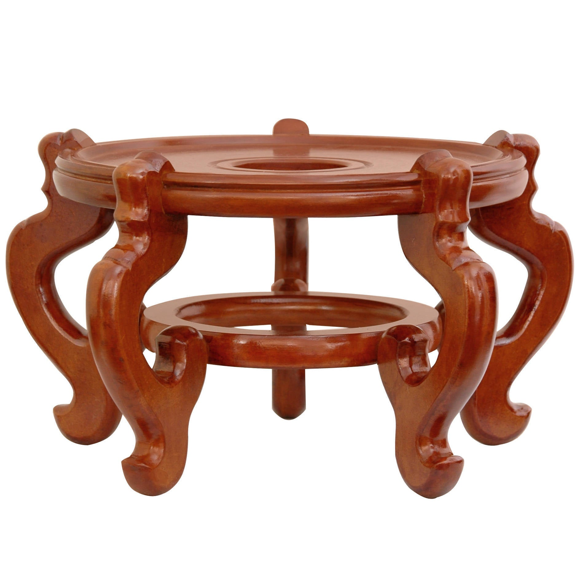 "Rosewood 9-inch Honey Fishbowl Stand (China) (9"" Rosewood..."