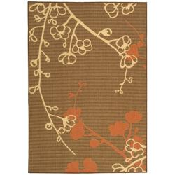Safavieh Courtyard Brown/ Terracotta Indoor/ Outdoor Rug - 8' x 11' - Thumbnail 0