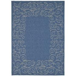 Safavieh Indoor/Outdoor Contemporary Blue/Ivory Rug (2'7 x 5')