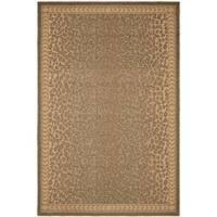 Safavieh Courtyard Natural/ Gold Leopard Print Indoor/ Outdoor Rug - 2'7' x 5'