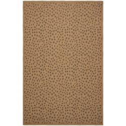 Safavieh Indoor/ Outdoor Natural/ Leopard Print Rug (5'3 x 7'7)