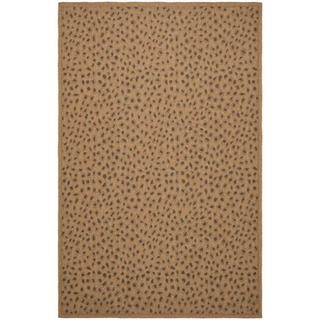 Safavieh Courtyard Natural/ Leopard Print Indoor/ Outdoor Rug (5'3 x 7'7)