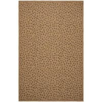 "Safavieh Courtyard Natural/ Leopard Print Indoor/ Outdoor Rug - 5'3"" x 7'7"""