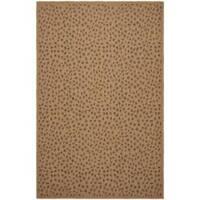 Safavieh Courtyard Natural/ Leopard Print Indoor/ Outdoor Rug - 6'7 x 9'6