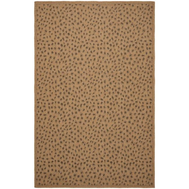Safavieh Courtyard Natural/ Leopard Print Indoor/ Outdoor Rug (8' x ... - Safavieh Courtyard Natural/ Leopard Print Indoor/ Outdoor Rug (8