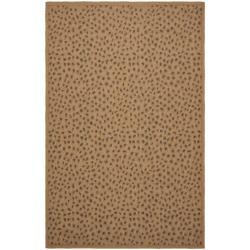 Safavieh Indoor/ Outdoor Natural/ Leopard Print Rug (7'10' x 11')